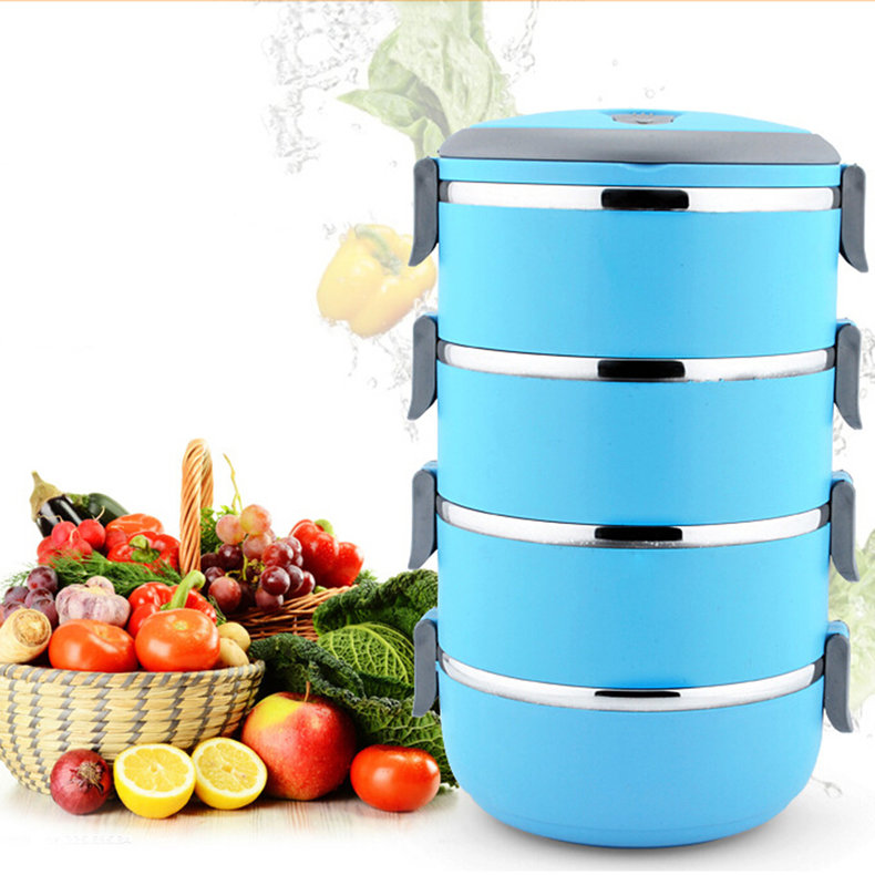 thermal insulated lunch box bento picnic storage mess tin. Black Bedroom Furniture Sets. Home Design Ideas