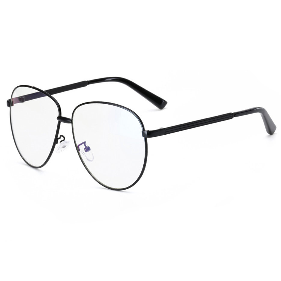 Glasses Frames With Plain Glass : Trendy Toad Eyeglasses Metal Frame Blue Resin Lens Plain ...