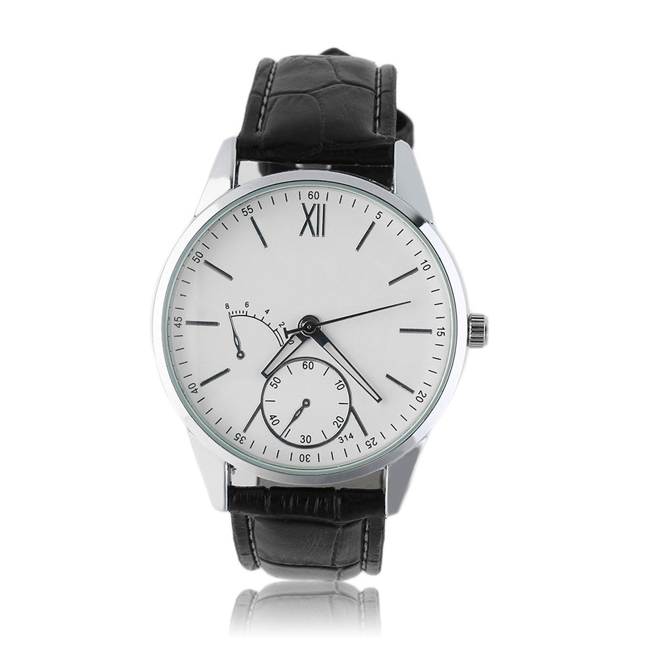 men 39 s fashion elegant watch business watches leather band casual wristwatch bs ebay