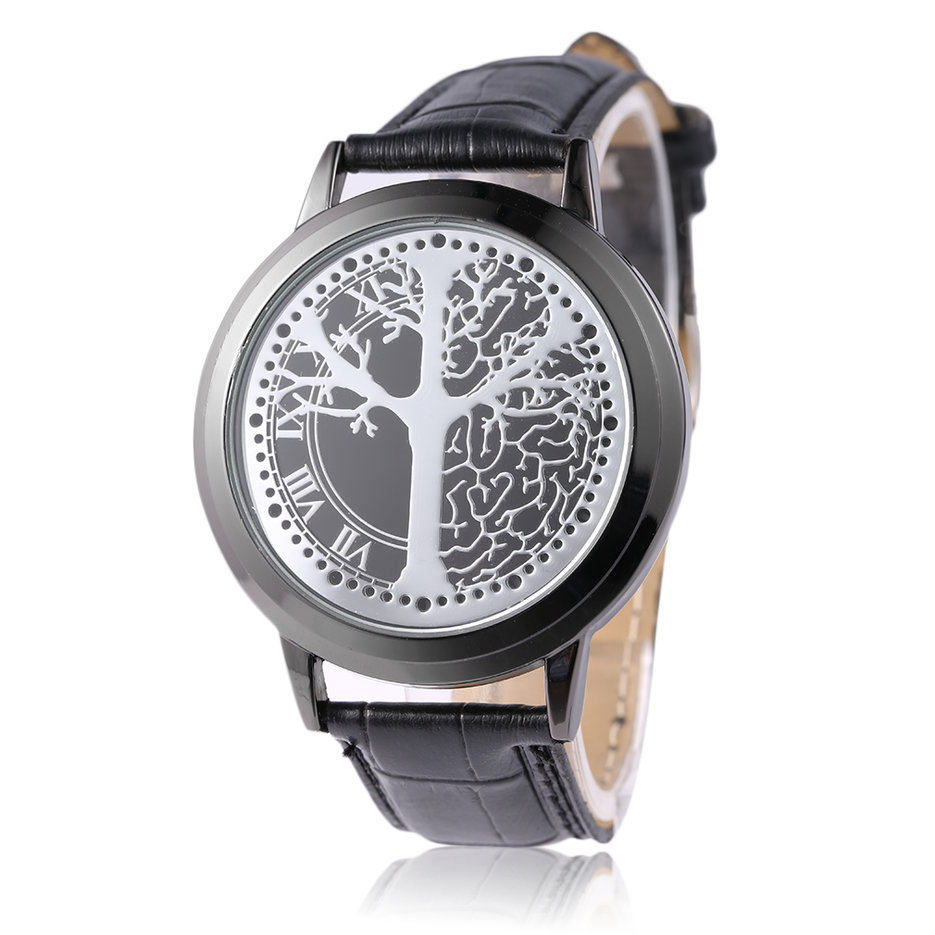 Led touch screen digital men women leather strap luminescence wrist watch x ebay for Luminescence watches