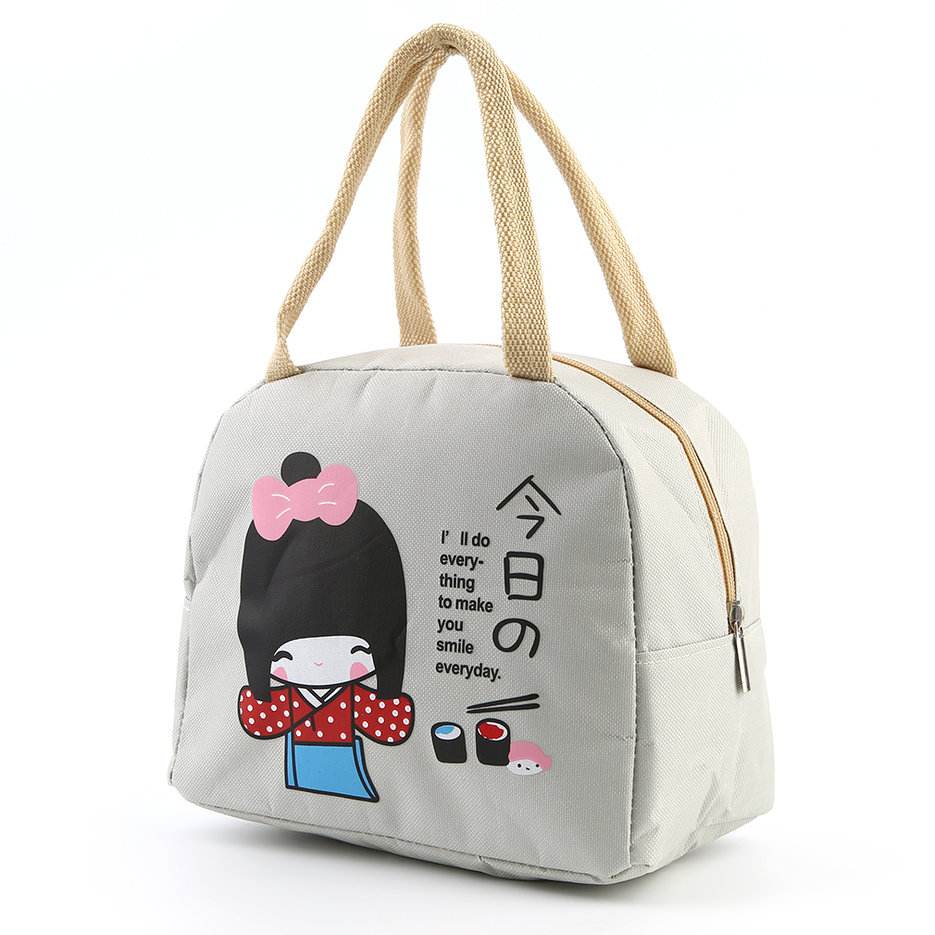 portable japanese girl bento lunch boxes large bag insulation storage bag l ebay. Black Bedroom Furniture Sets. Home Design Ideas