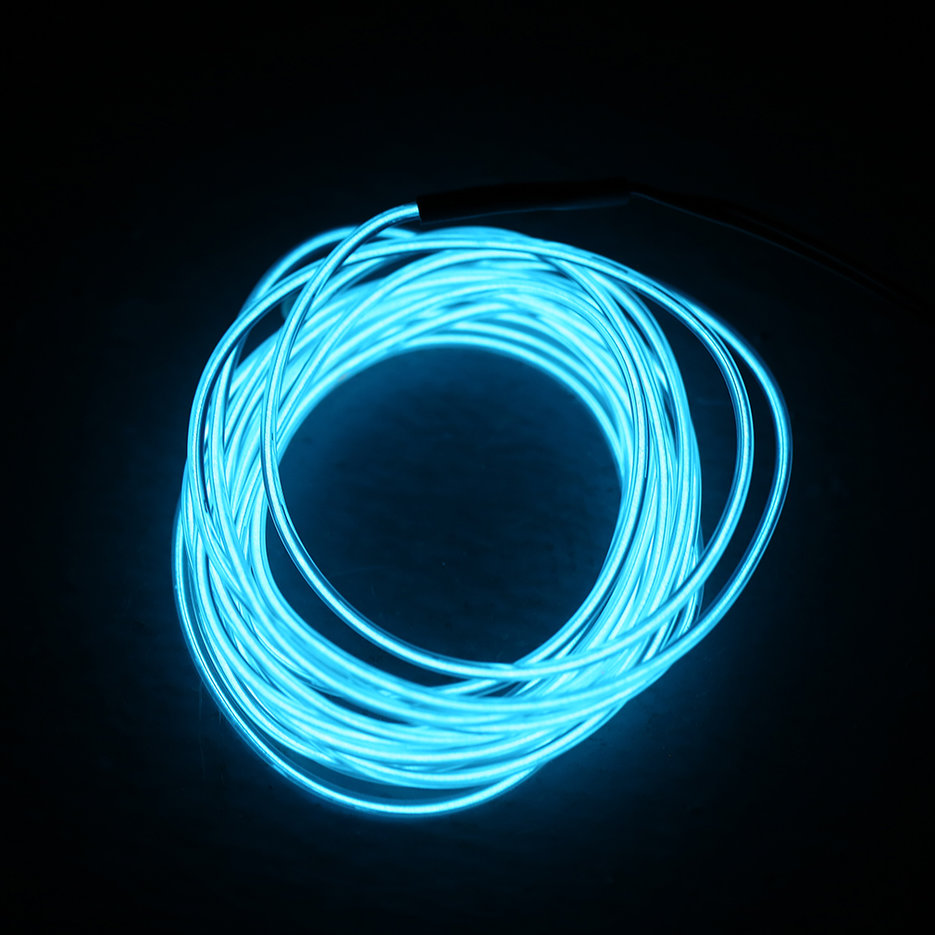Colorful 2m flexible el wire tube rope neon light dc 12v - Neon led 12v ...