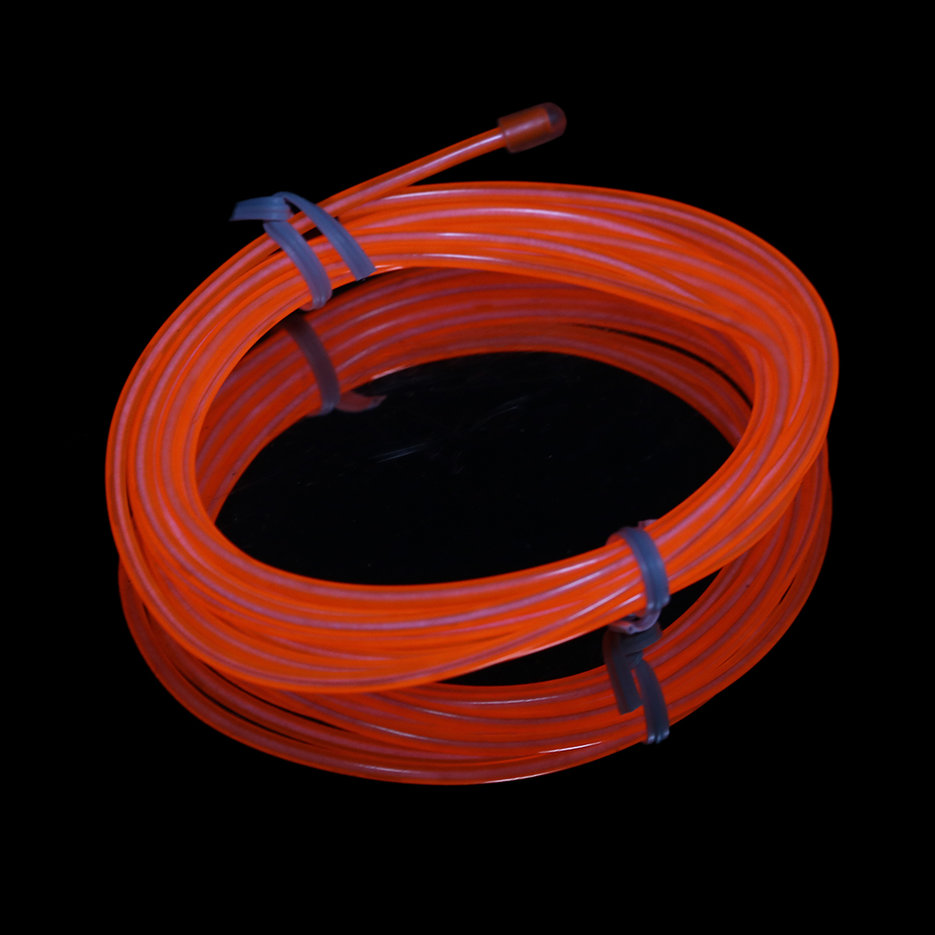 Colorful 2m Flexible EL Wire Tube Rope Neon Light DC 12V