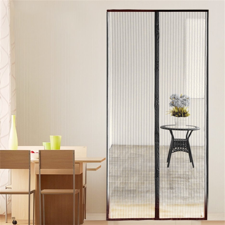 New Magnetic Fastening Hands Free Insect Screen Magic Curtain Door Mesh R Ebay