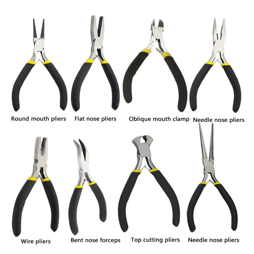 New-Jewellery-Making-Beading-Mini-Pliers-Tools-Kit-Set-Round-Flat-Long-Nose-WS