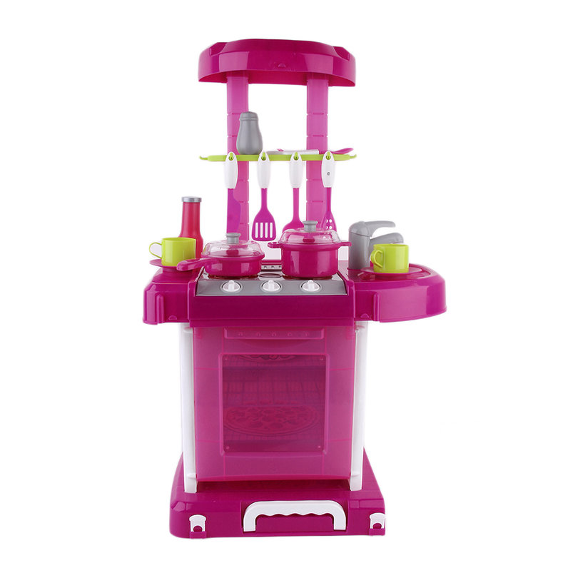 kids play toy girl baby toy kitchen cooking simulation table