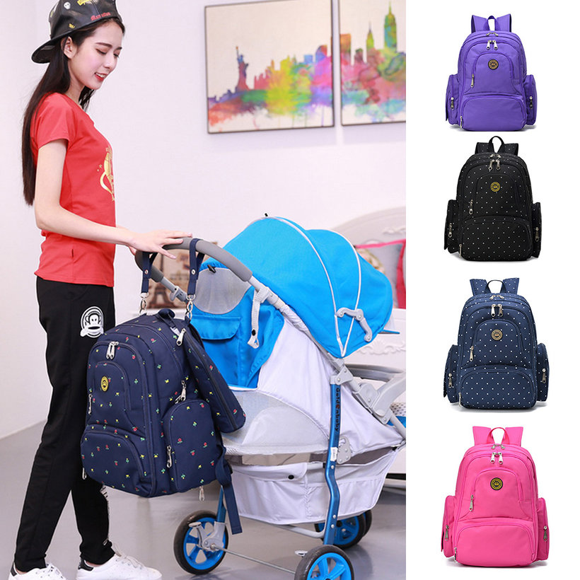 new mummy backpack baby nappy diaper bag light changing. Black Bedroom Furniture Sets. Home Design Ideas