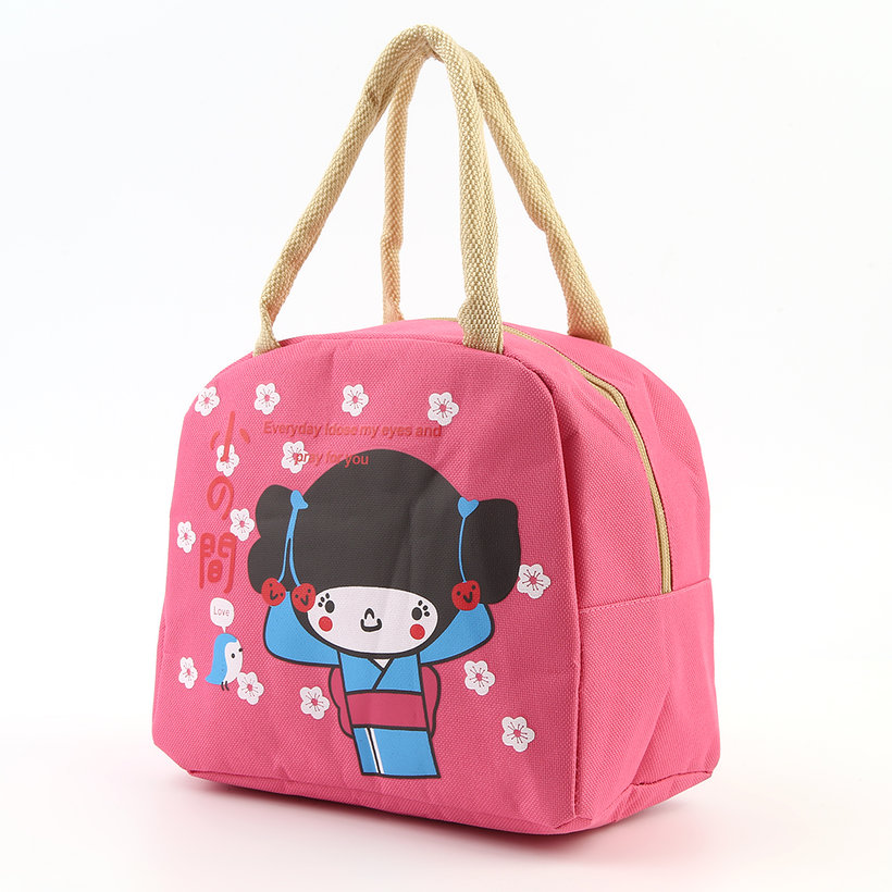 portable japanese girl bento lunch boxes large bag insulation storage bag ln ebay. Black Bedroom Furniture Sets. Home Design Ideas