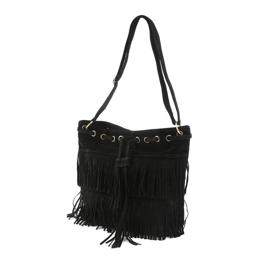 Women Popular Faux Suede Fringe Tassel Shoulder Bag Handbags Messenger Bag LKS