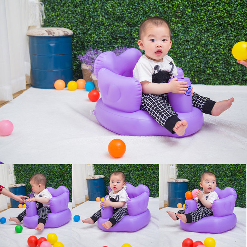 multifunctional inflatable baby sofa learn training seat bath dining chair qp ebay. Black Bedroom Furniture Sets. Home Design Ideas
