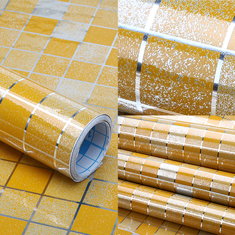 New-PVC-Aluminum-Foil-Self-Adhesive-Mosaic-Vinyl-Stickers-For-Bathroom ...