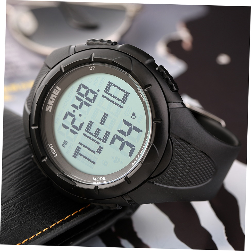 1122 Skmei Digital LED Display Pedometer 3D Sport Running Watch Rubber Strap HW