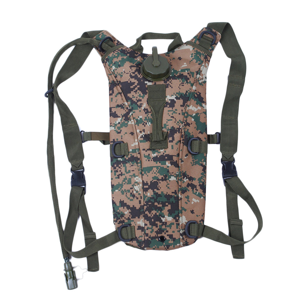 3L Hydration System Survival Water Bag Pouch Backpack ...