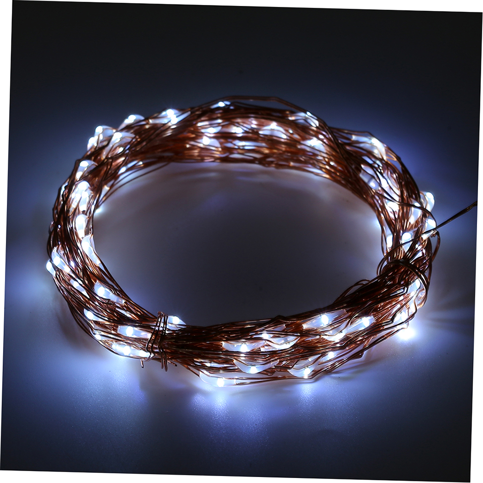 Starlight Led String Lights 10 Copper Wire : Solar Powered Warm White 10M 100LED Copper Wire Outdoor String Fairy Light GTO eBay