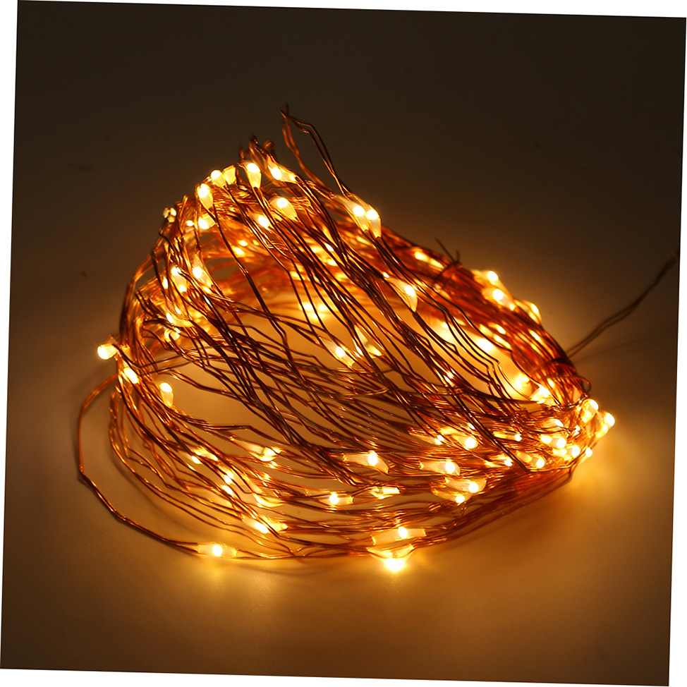 Solar Powered Warm White 10M 100LED Copper Wire Outdoor String Fairy Light GTO eBay