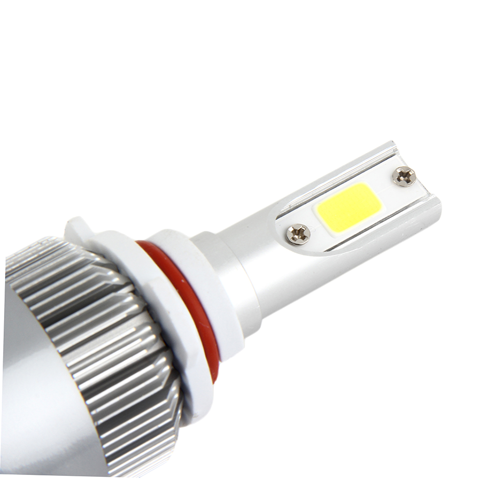 1 Pair C6 9006 Car LED Bulb 4000LM 12-24V 80W 6000K White