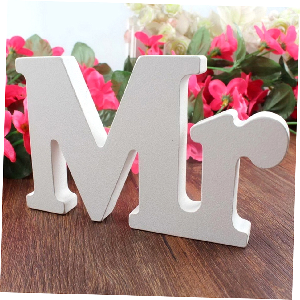 Wedding Present Table Decoration : ... Letters for Wedding Decoration Sign Top Table Present Decor zp eBay