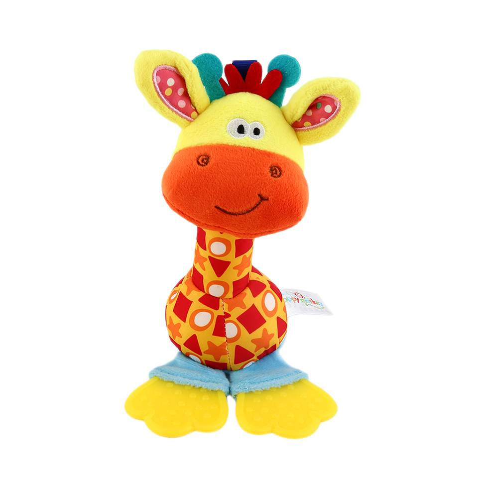 Soft Toys Cartoon : Pc soft baby plush toy cartoon animal teether rattle