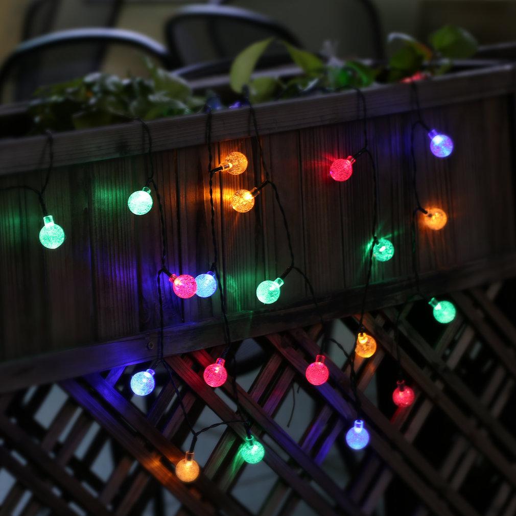 A Solar Powered Retro Bulb String Lights For Garden Outdoor Fairy Summer Lamp R