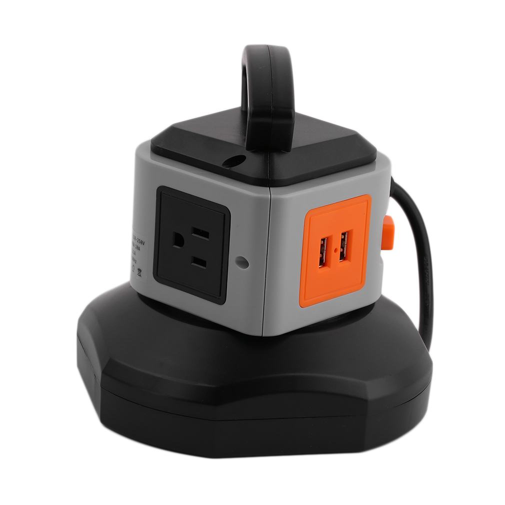 power strip with usb surge protector 3 outlet 2 usb port charger charging tower ebay. Black Bedroom Furniture Sets. Home Design Ideas