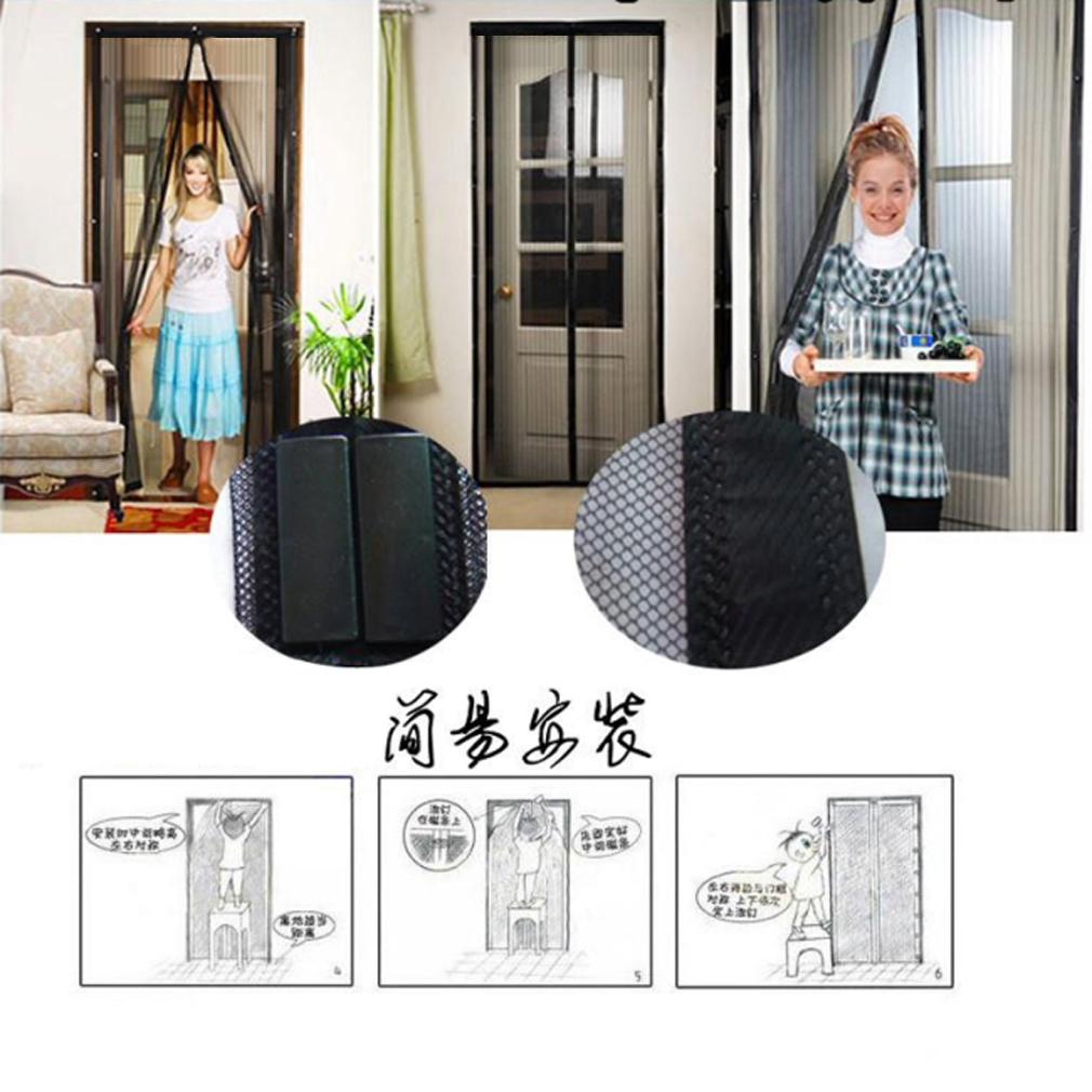 NEW Magic Mesh Hands-Free Screen Net Magnetic Anti Mosquito Bug Door Curtain ZM | eBay