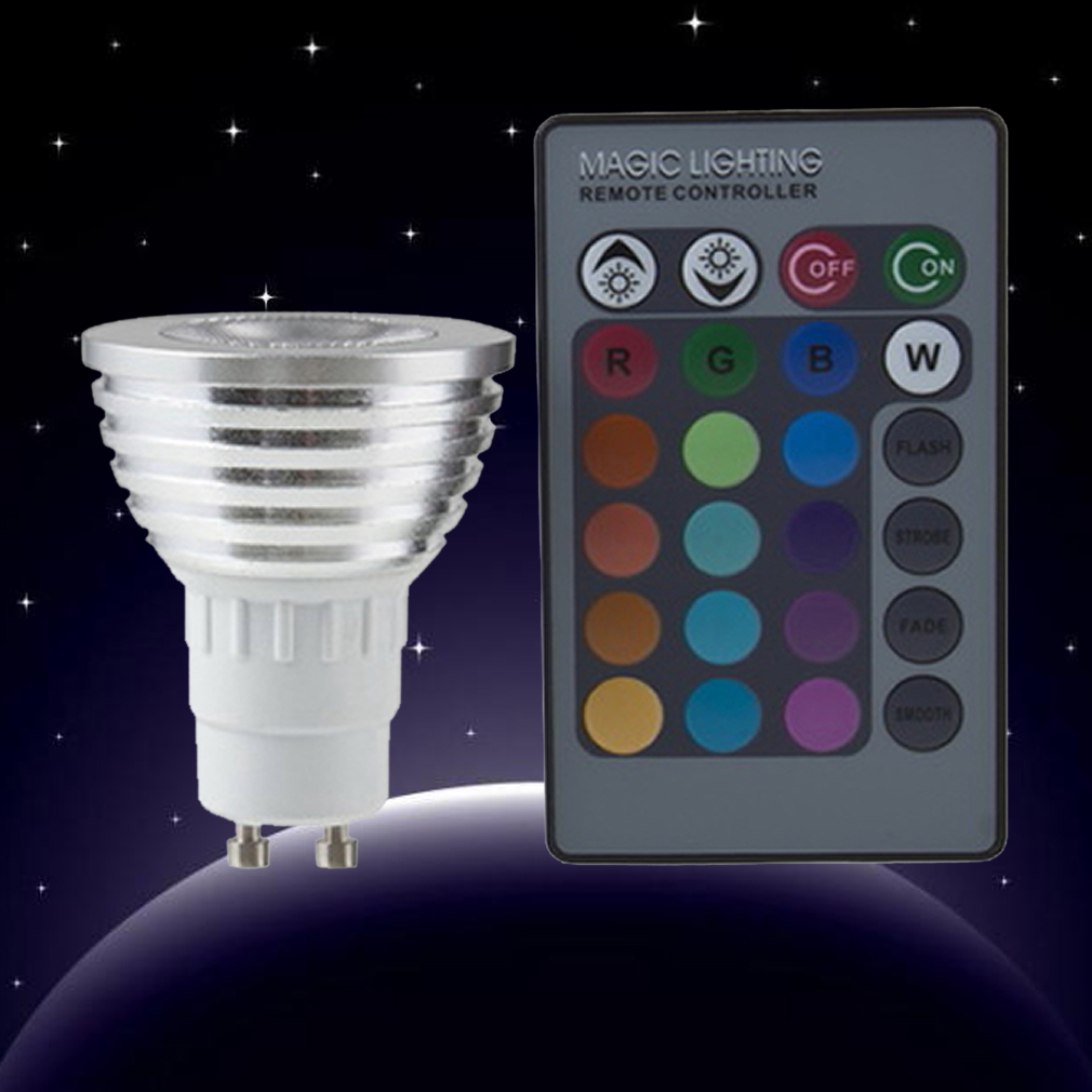 new pro 5w e27 multi color change rgb led light bulb lamp with remote control dp. Black Bedroom Furniture Sets. Home Design Ideas