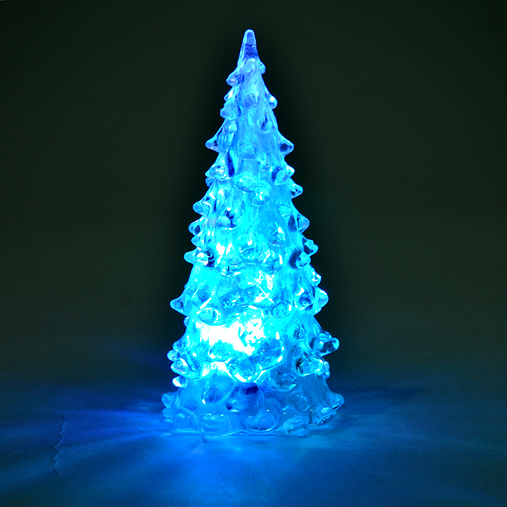 Icy crystal led christmas tree decoration night light for Color changing christmas tree lights