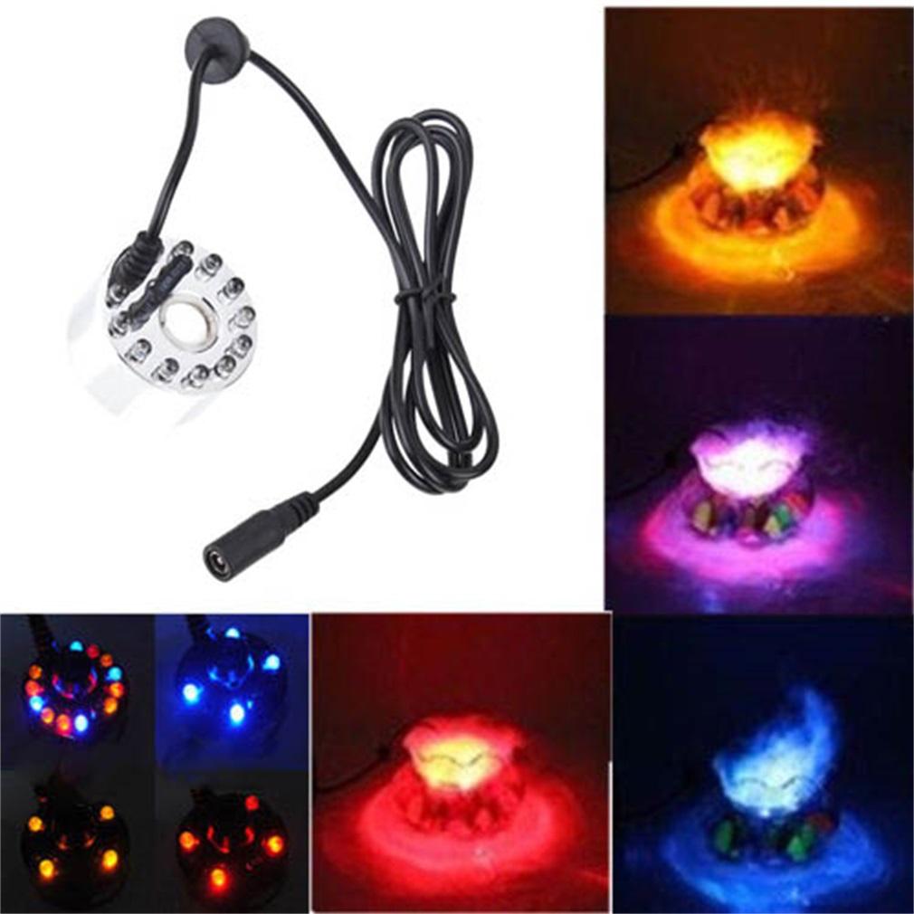 12 led light ultrasonic mist maker fogger water fountain pond indoor