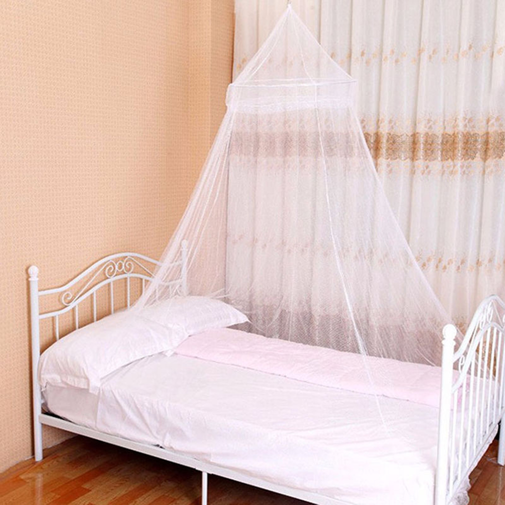 Elegant round lace insect bed canopy netting curtain dome - Canopy bed curtains for sale ...
