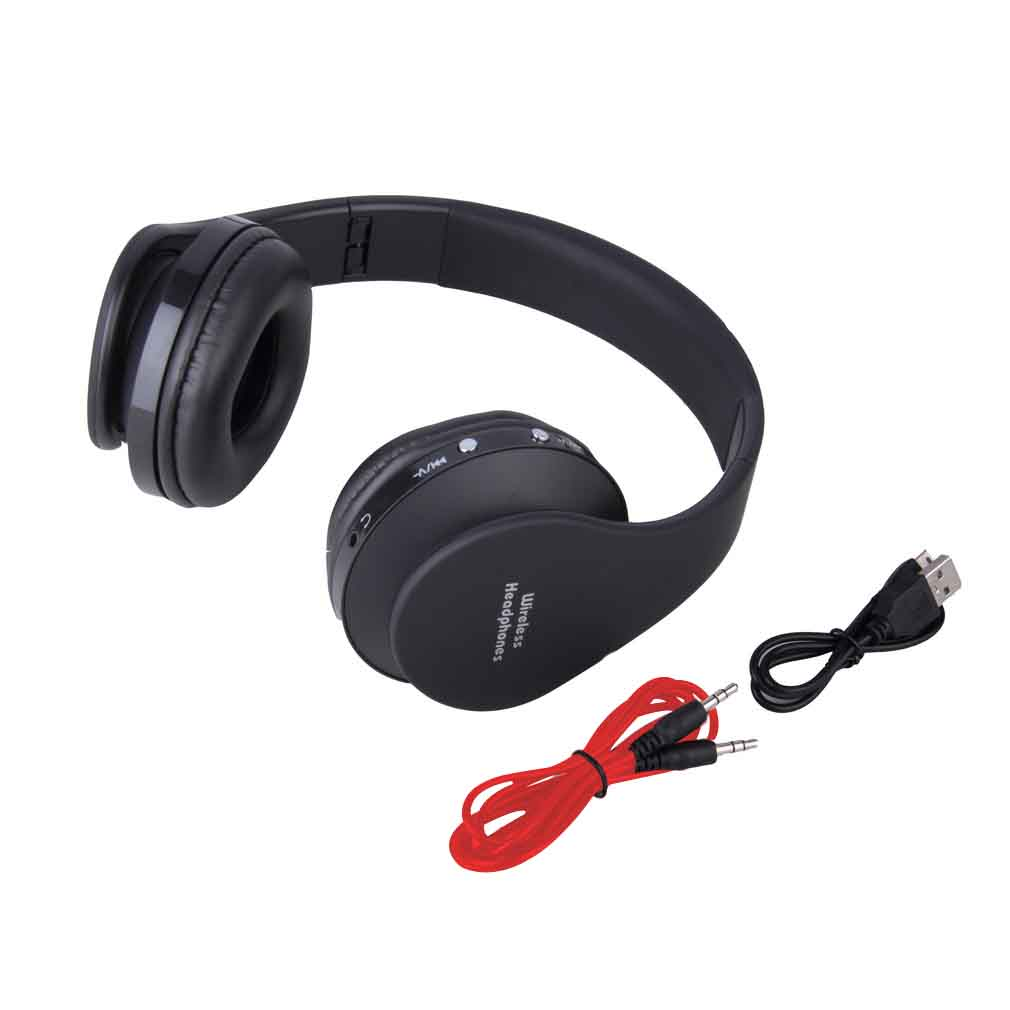 foldable wireless stereo bluetooth headset with mic for iphone cellphone pc laptop zb05501. Black Bedroom Furniture Sets. Home Design Ideas
