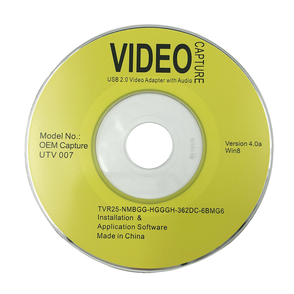 EasyCAP Video Adapter with Audio Quick Installation Guide
