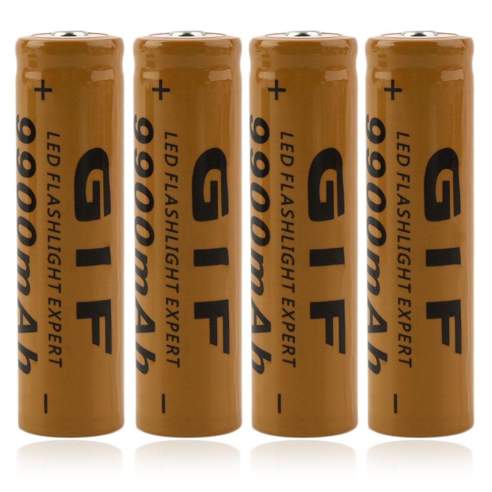 pack de 4 piles li ion rechargeables 18650 9900mah 3 7v 12. Black Bedroom Furniture Sets. Home Design Ideas