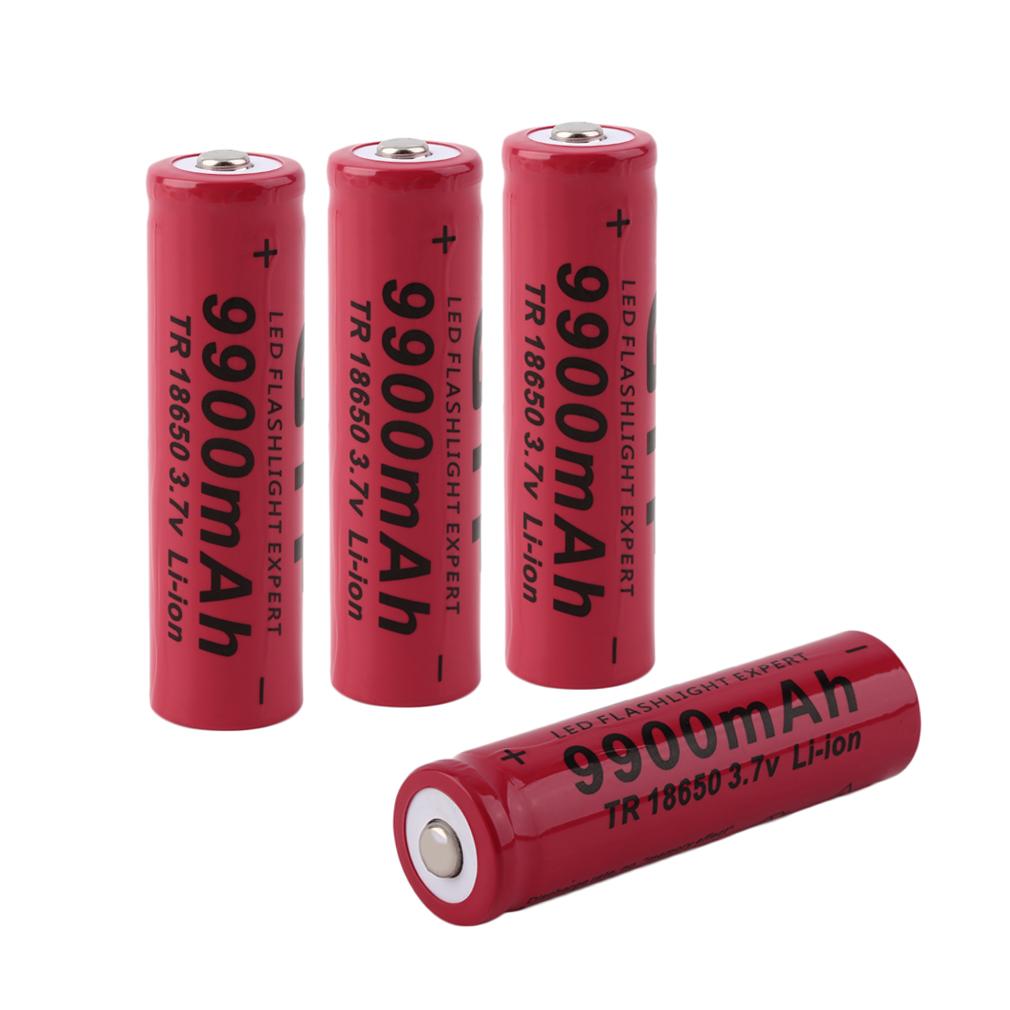 4pcs piles 3 7v batterie rechargeable 9900mah li ion 18650 pour torche achat vente piles