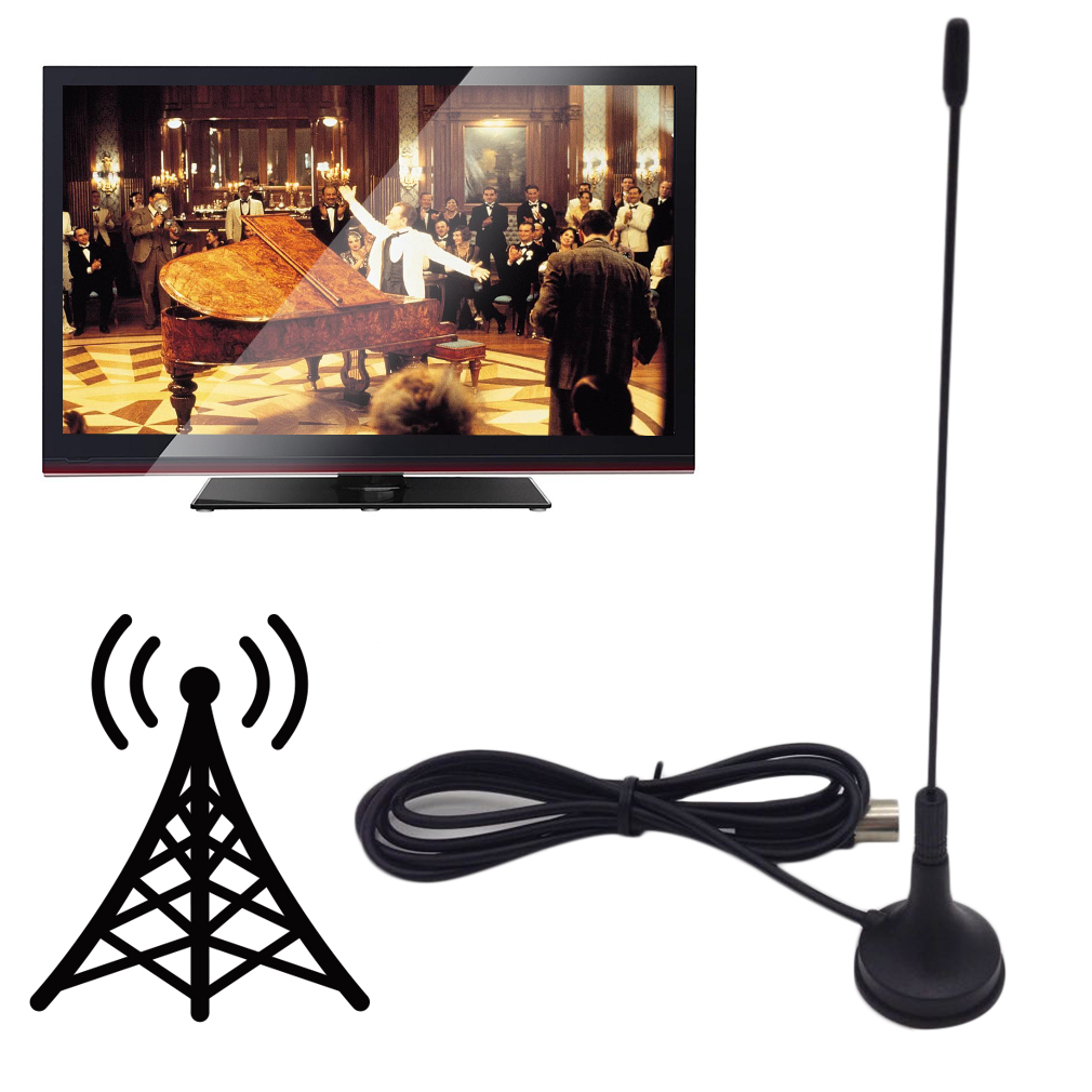 digital 5dbi dvb t tv antenna freeview aerial hdtv strong signal booster by ebay. Black Bedroom Furniture Sets. Home Design Ideas