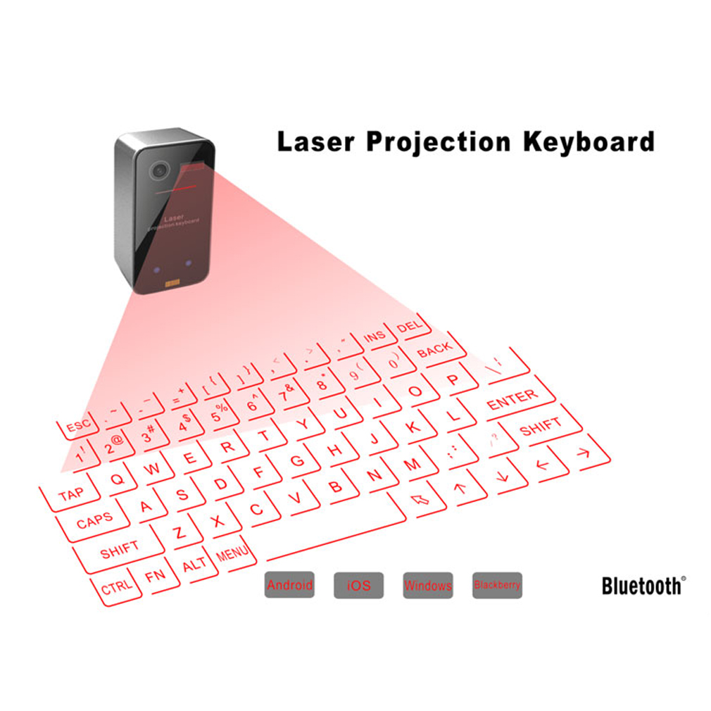 laser projection keyboard Laser projection virtual keyboard transforms flat surfaces our virtual keyboard  transforms a flat surface into an instant work station so you can type up a storm.