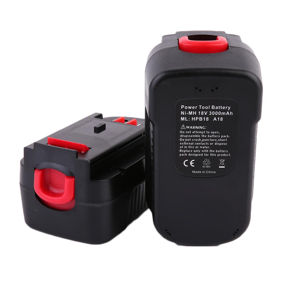 2x 3000mah battery for black decker firestorm 18v volt hpb18 fs18bx fs180 wp ebay. Black Bedroom Furniture Sets. Home Design Ideas