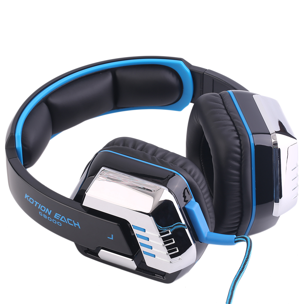 Comfortable gaming earbuds - headphones gaming blue