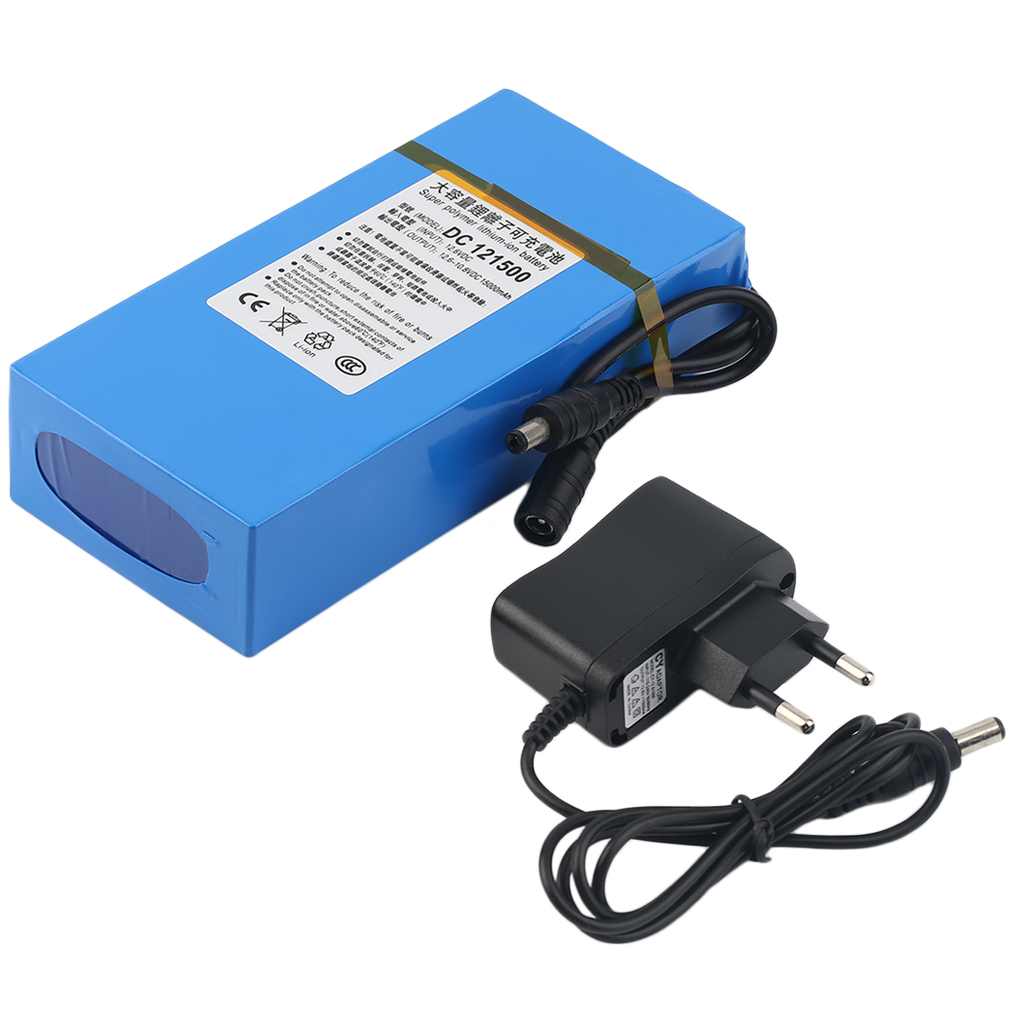 dc 12v 15000mah li ion rechargeable battery pack ac charger au eu us plug ib ebay. Black Bedroom Furniture Sets. Home Design Ideas