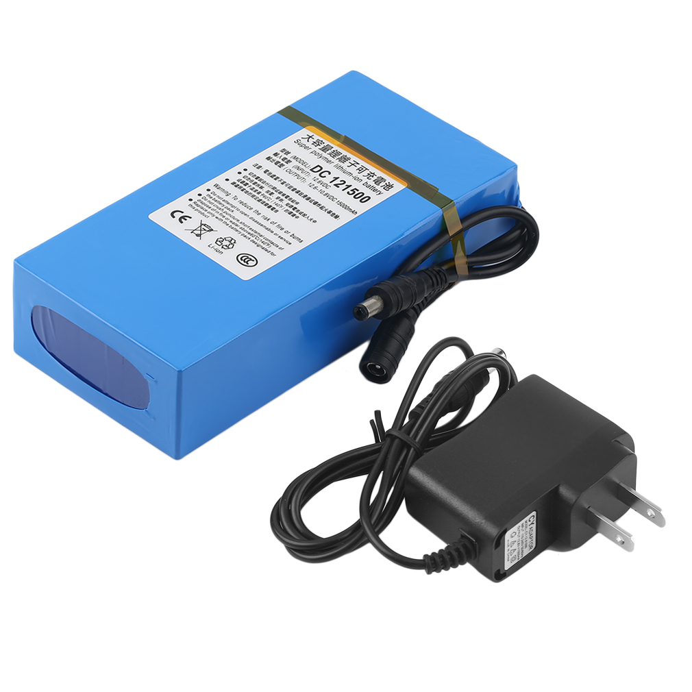 dc 12v 15000mah li ion rechargeable battery pack ac charger au eu us plug lk ebay. Black Bedroom Furniture Sets. Home Design Ideas
