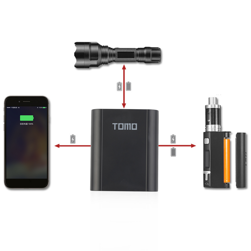 Tomo Mobile Power Bank 18650 Battery Charger With