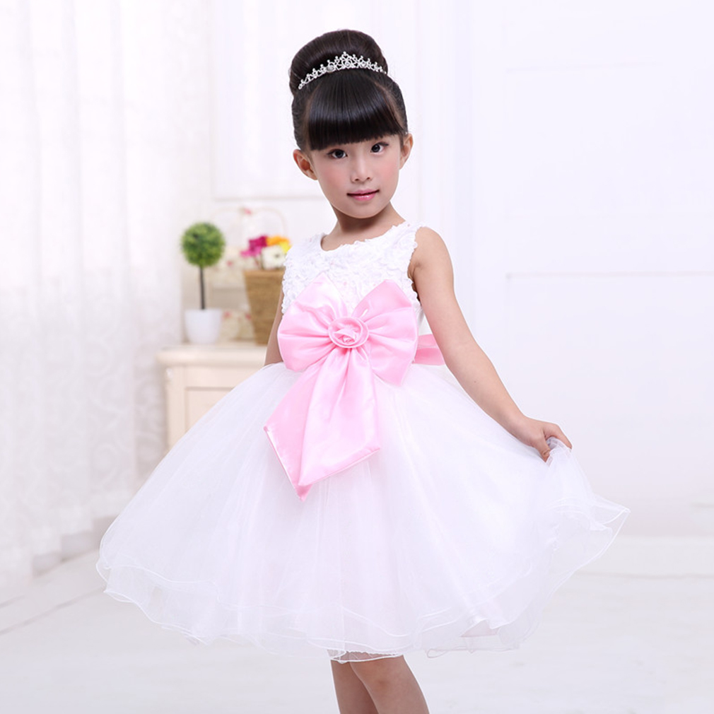 New little girls flower party formal wedding bridesmaid for Little flower girl wedding dresses