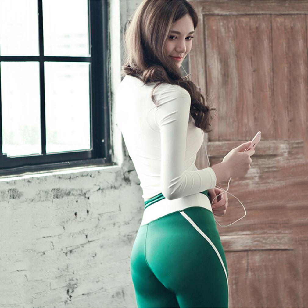 Autumn Women Ladies Slim Sports Yoga Clothes Set Long