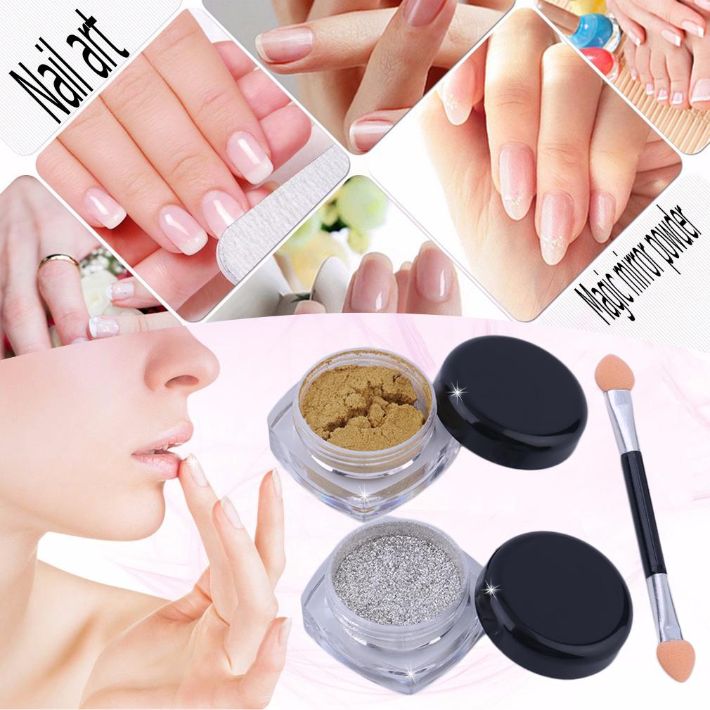 Specchio polvere pigmento unghie effetto cromato mirror argento oro powder nail ebay - Polvere effetto specchio unghie ...
