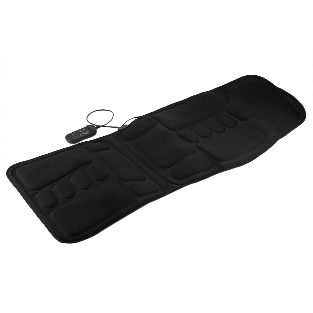 black back massage chair heat seat cushion neck pain lumbar support pads car au ebay. Black Bedroom Furniture Sets. Home Design Ideas