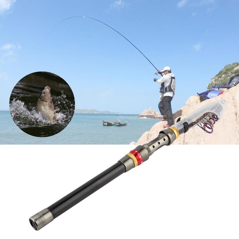 Super light carbon telescopic pole saltwater casting sea for Ocean fishing pole