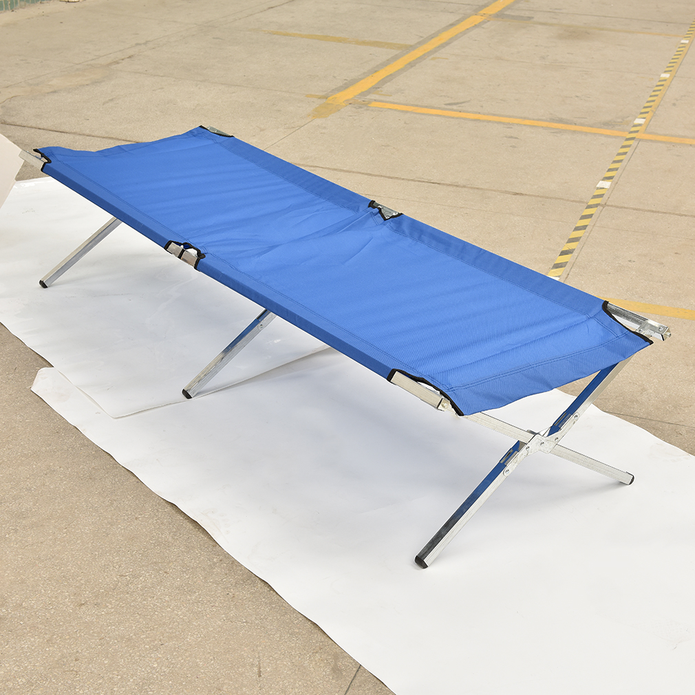 Xxl campingbett feldbett 210x72x45 cm belastbar bis for Stuhl 200kg belastbar