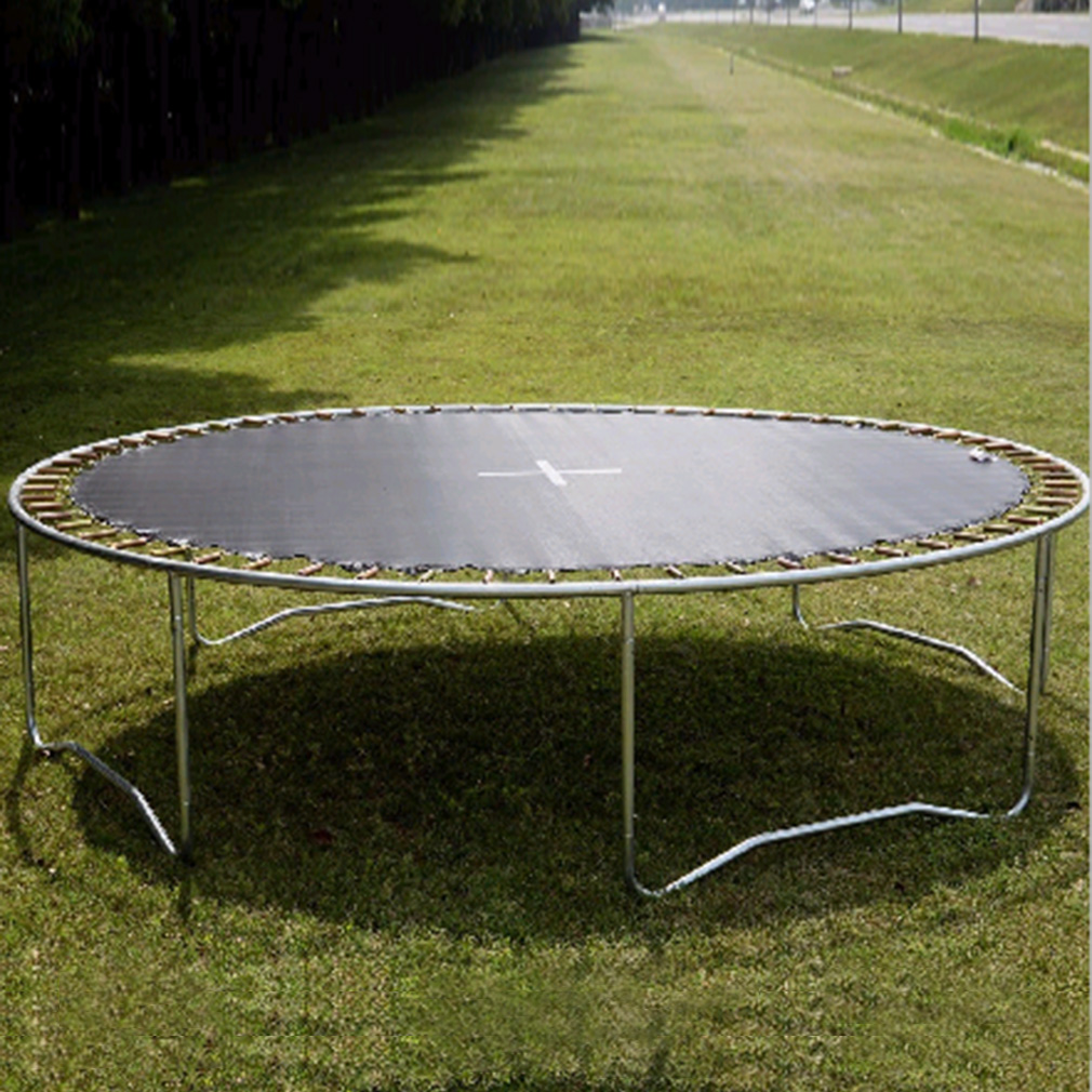Trampoline With Safety Enclosure Padding And Ladder Round