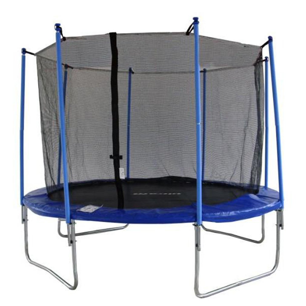 14ft 4 Arch 8Pole Round Trampoline Enclosure Net Fence