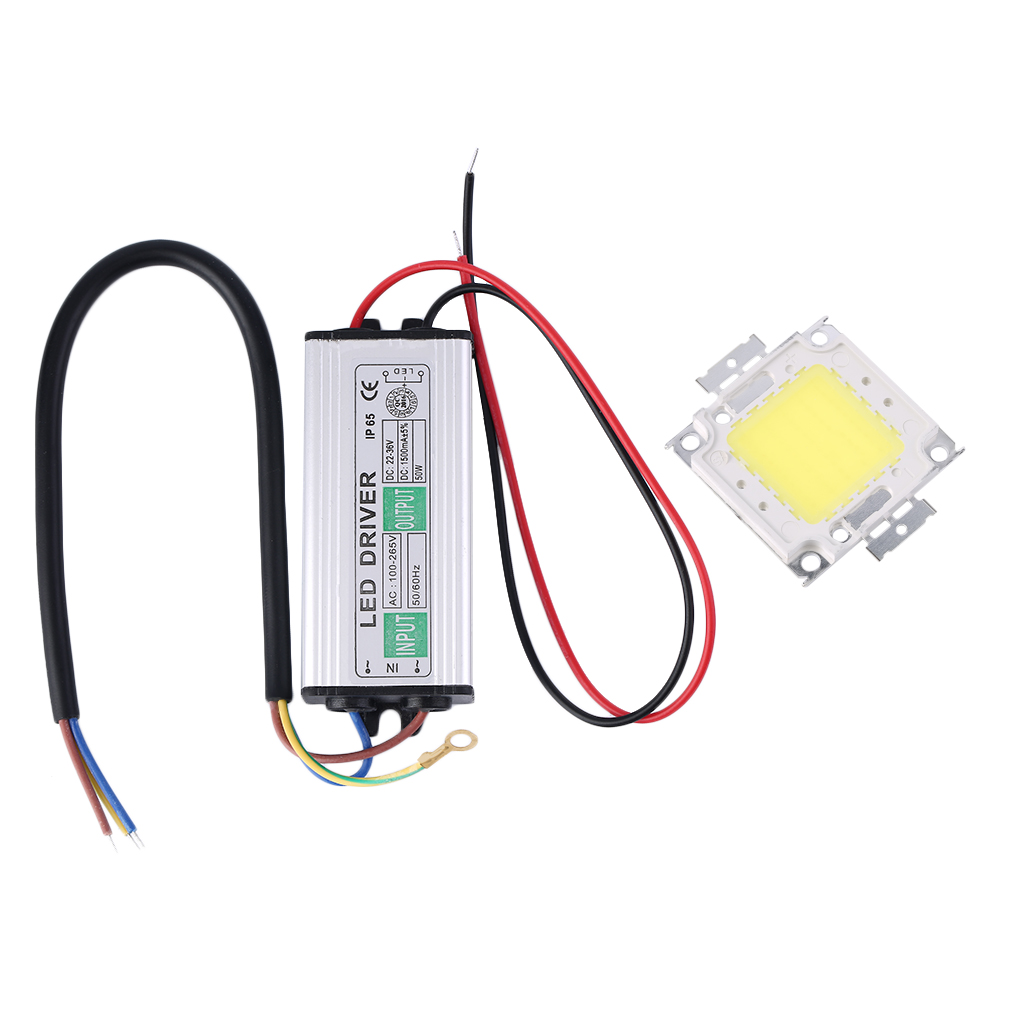 50W LED SMD Chip Bulbs With 50W High Power Waterproof LED Driver Suppl