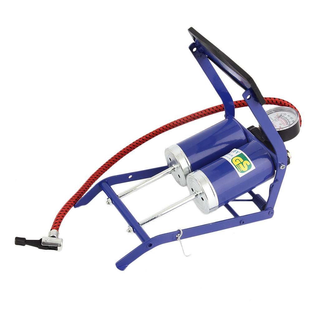 pumpe doppelzylinder fu pumpe reifen luftpumpe kfz fahrrad. Black Bedroom Furniture Sets. Home Design Ideas